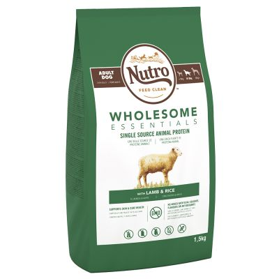 Nutro Wholesome Essentials Adult Lam & Rijst Hondenvoer