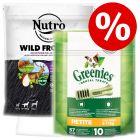 Nutro Wild Frontier Adult + Gratis Greenies snacks!