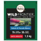 Nutro Wild Frontier Adult salmão e peixe branco para gatos