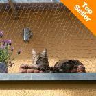 Ochranná síť pro kočky zesílená drátem - olivová