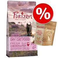 Oferta de prueba: 400 g Purizon pienso para gatos + 40 g Purizon snack