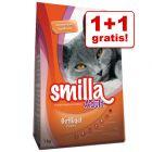 1 + 1 offert ! Croquettes Smilla 2 x 1 kg pour chat