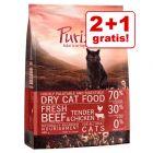 2 + 1 offert ! 3 x 400 g Croquettes Purizon pour chat