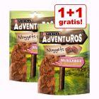 1 + 1 offert ! 2 x 300 g PURINA AdVENTuROS Nuggets pour chien