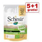 5 + 1 offert ! 6 x 85 g Schesir Bio pour chat