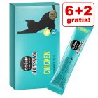 6 + 2 offerts ! Cosma Jelly Snack 8 x 14 g pour chat
