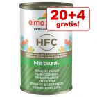 20 + 4 offerts ! 24 x 140g Almo Nature HFC