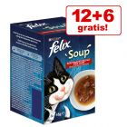 12 + 6 offerts ! 18 x 48 g Felix Soup pour chat