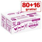 86 + 10 offerts ! 96 x 100 g Sachets Whiskas pour chat