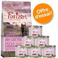 Offre découverte chaton : croquettes Purizon, 400 g + boîtes Feringa, 6 x 200 g