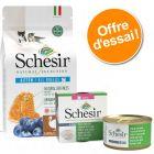 Offre découverte chaton : Schesir boîtes 6 x 85 g + croquettes 1,4 kg