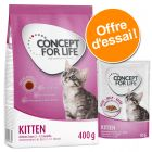 Offre découverte Concept for Life Kitten : croquettes + sachets fraîcheur pour chaton
