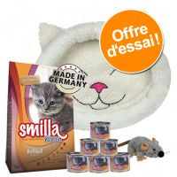 Offre découverte Smilla Kitten + panier Trixie Mijou + souris en peluche Trixie