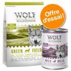 Offre d'essai Wolf of Wilderness croquettes + boîtes
