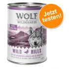 Offre d'essai ! Wolf of Wilderness 1 x 400 g pour chien