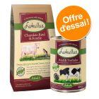 Offre Lukullus : croquettes 1,5 kg + boîtes 6 x 400 g
