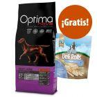 Optimanova 12 kg pienso + 190 g Barkoo Deli Rolls Dental snacks ¡gratis!