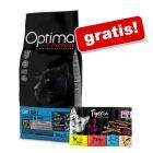 Optimanova, sucha karma dla kota, 8 kg + Tigeria Sticks, 10 x 5 g gratis!