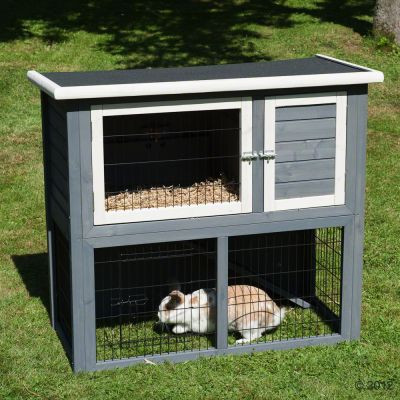 Outback Hutch Compact Grey with Run