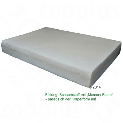 Outdoor Memory Foam Bed - Olive / Orange