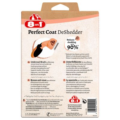 Outil 8in1 Perfect Coat DeShedder anti-mue pour chat