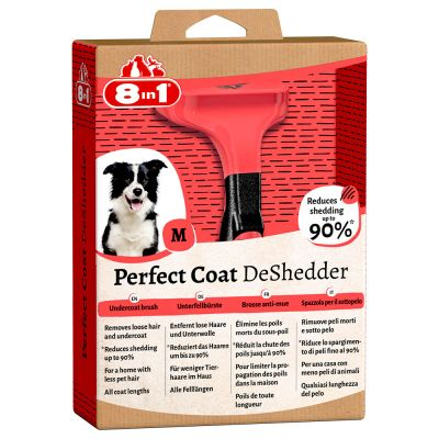 Outil 8in1 Perfect Coat DeShedder anti-mue pour chien