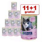 11 + 1 på köpet! Bozita Feline våtfoder på burk 12 x 410 g