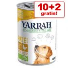 10 + 2 på köpet! 12 burkar Yarrah Organic