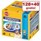 128 + 40 på köpet! 168 st Pedigree Dentastix/ Dentastix Fresh