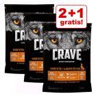 2 + 1 på köpet! 3 x Crave Adult hundfoder