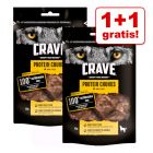 1 + 1 på köpet! 2 x Crave Protein hundgodis