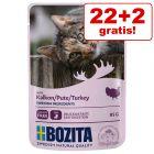 22 + 2 på köpet! 24 x 85 g Bozita bitar i sås/gelé Pouch