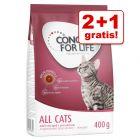 2 + 1 på köpet! 3 x 400 g Concept for Life kattfoder