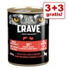 3 + 3 på köpet! 6 x 400 g Crave Adult våtfoder
