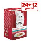 24 + 12 på köpet! 36 x 50 g Gourmet Mon Petit Mix