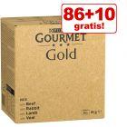 86 + 10 på köpet! 96 x 85 g Jumbopack Gourmet Gold