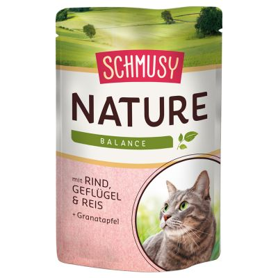 Pacco misto Schmusy Nature Balance Adult 24 x 100 g