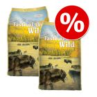 Pachet economic: 2 x 12,2/13 kg Taste of the Wild