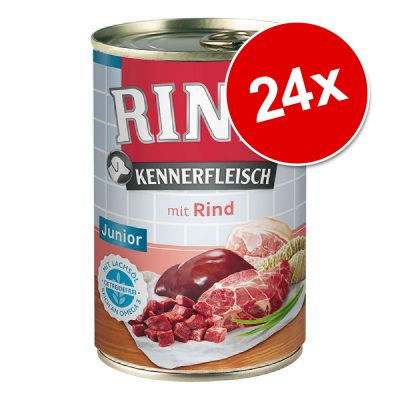 Pachet economic RINTI Pure Junior 24 x 400 g / 24 x 800 g