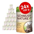 Pachet economic Schmusy Nature Mix 24 x 100 g