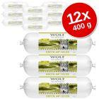 Pachet economic Wolf of Wilderness Adult 12 x 400 g - Sausage