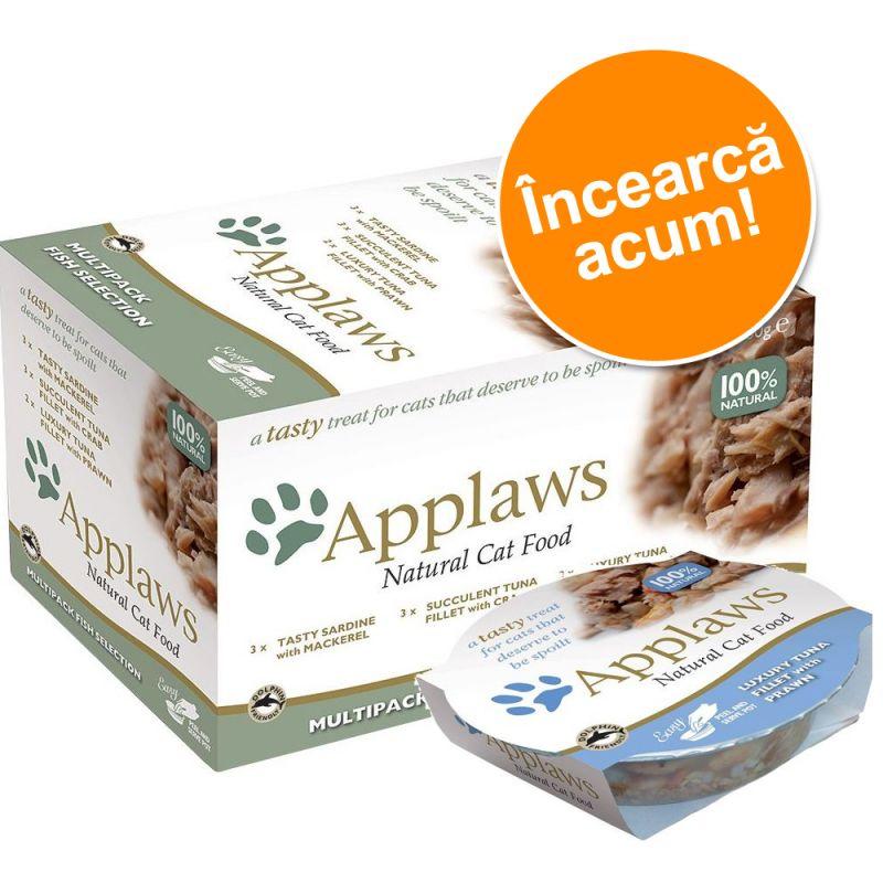 Pachet asortat Applaws Cat Pot 8 x 60 g