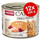 Pachet economic Animonda Carny Single Protein Adult 12 x 200 g