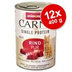 Pachet economic Animonda Carny Single Protein Adult 12 x 400 g