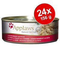 Pachet economic Applaws Adult Conserve în sos 24 x 156 g