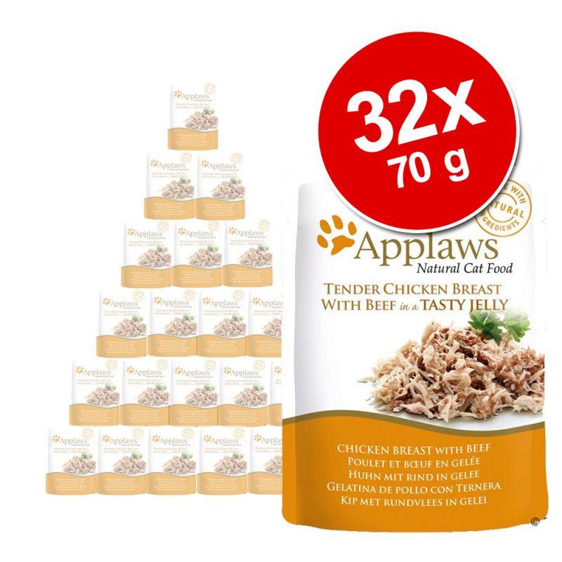 Pachet economic Applaws Plicuri în gelatină 32 x 70 g