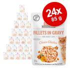 Pachet economic Brit Care Cat Fileuri în sos & gelatină 24 x 85 g