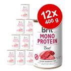 Pachet economic Brit Mono Protein 12 x 400 g
