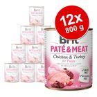 Pachet economic Brit Paté & Meat 12 x 800 g