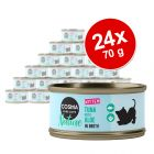 Pachet economic Cosma Nature Kitten 24 x 70 g